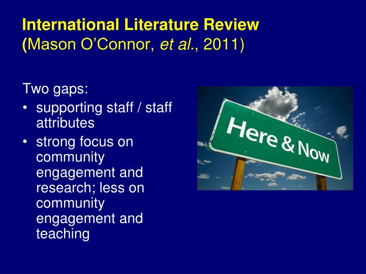 International Literature Review