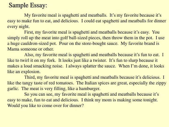 Sample Essay: