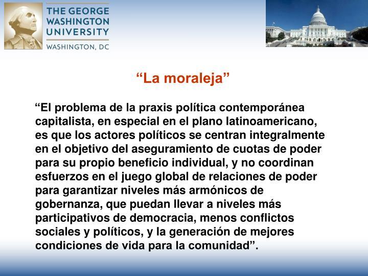 """""""La moraleja"""""""