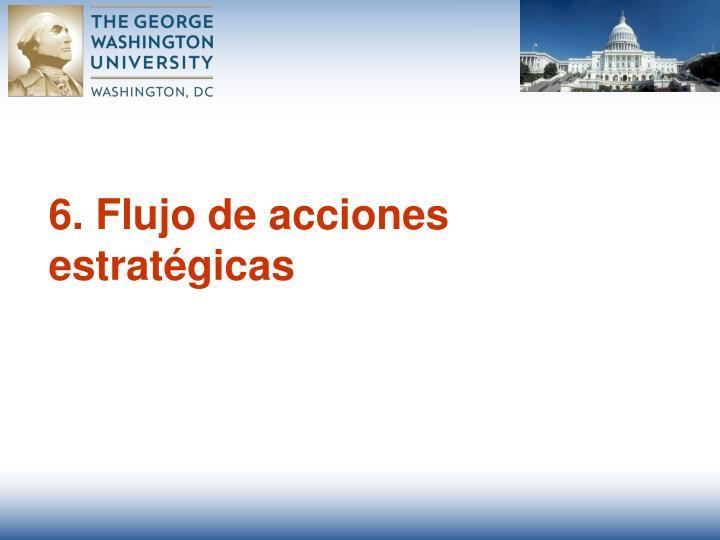 6. Flujo de acciones estratégicas