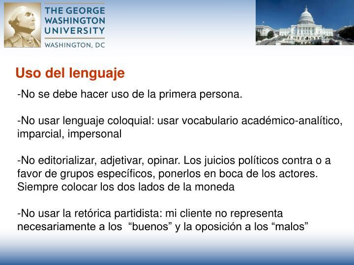 Uso del lenguaje