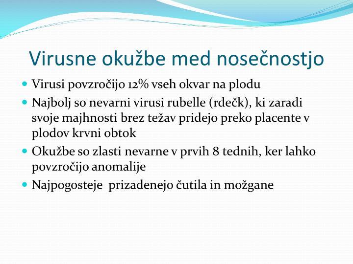 Virusne okužbe med nosečnostjo