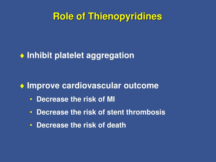 Role of Thienopyridines
