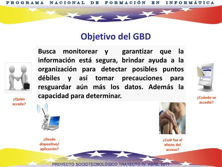 Objetivo del GBD
