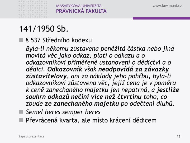 141/1950 Sb.