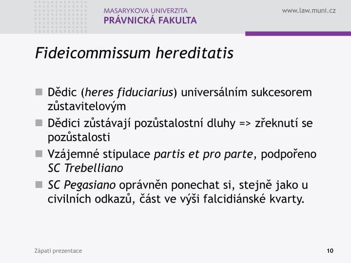 Fideicommissum hereditatis