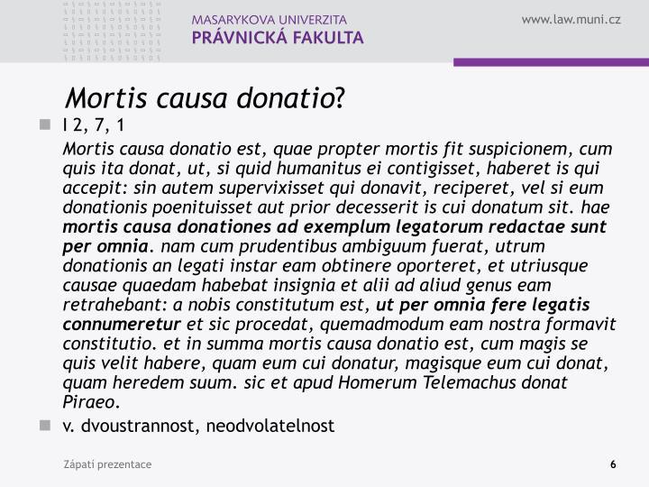 Mortis causa donatio