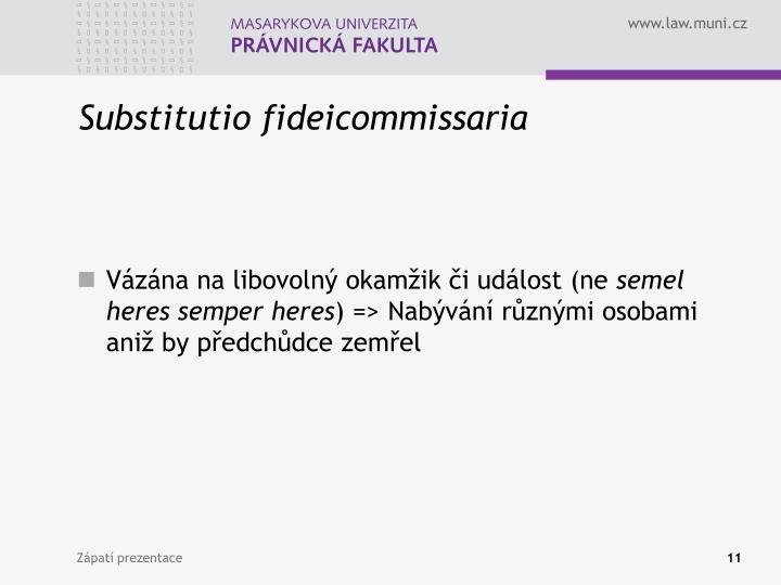 Substitutio fideicommissaria