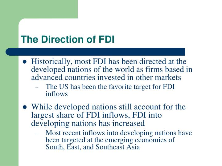 The Direction of FDI
