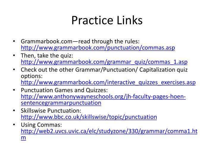 Practice Links