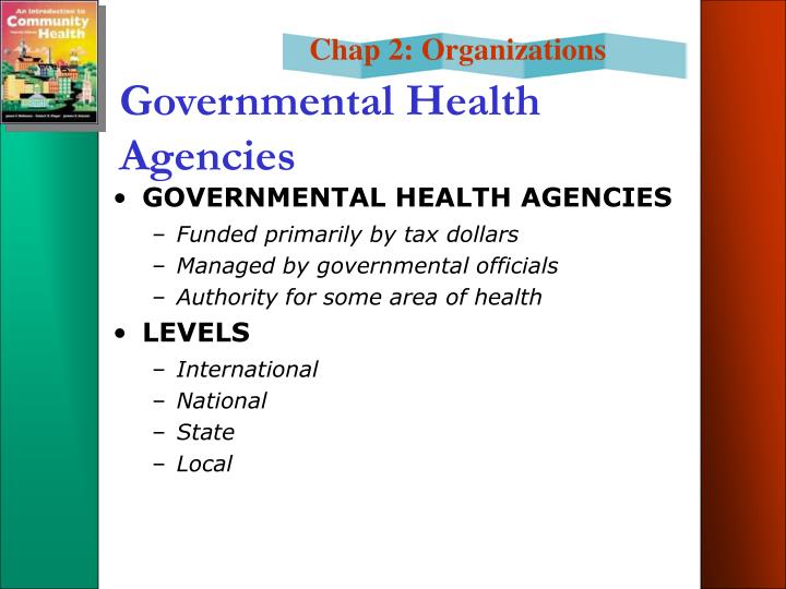 Governmental Health Agencies