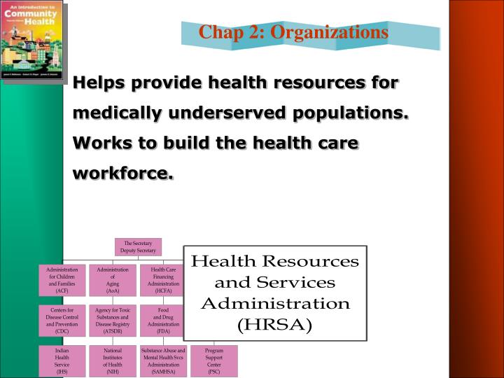 Helps provide health resources for medically underserved populations. Works to build the health care workforce.