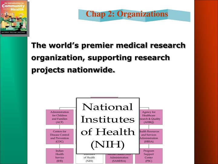 The world's premier medical research organization, supporting research projects nationwide.