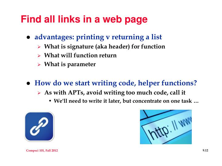Find all links in a web page