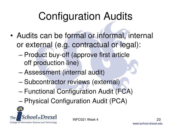 Configuration Audits