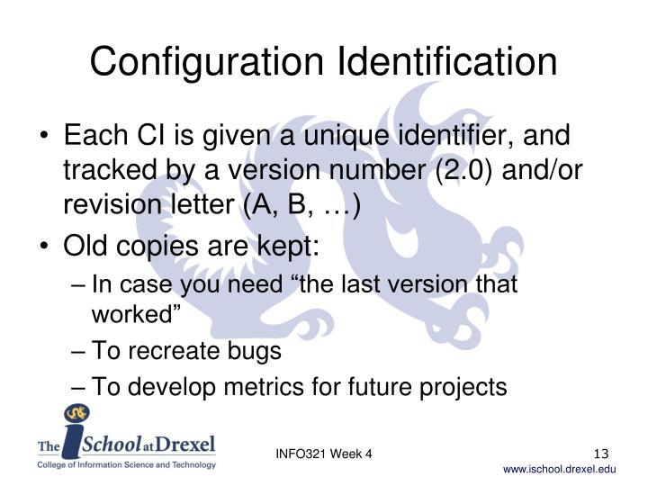 Configuration Identification