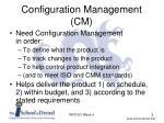 configuration management cm1