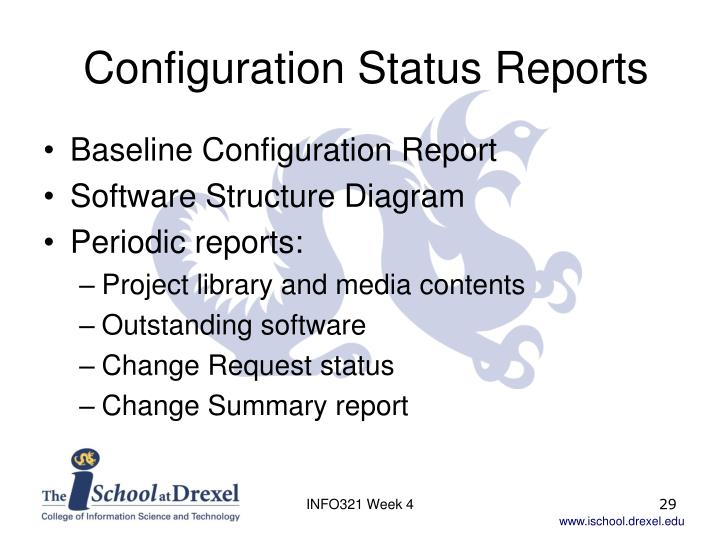 Configuration Status Reports