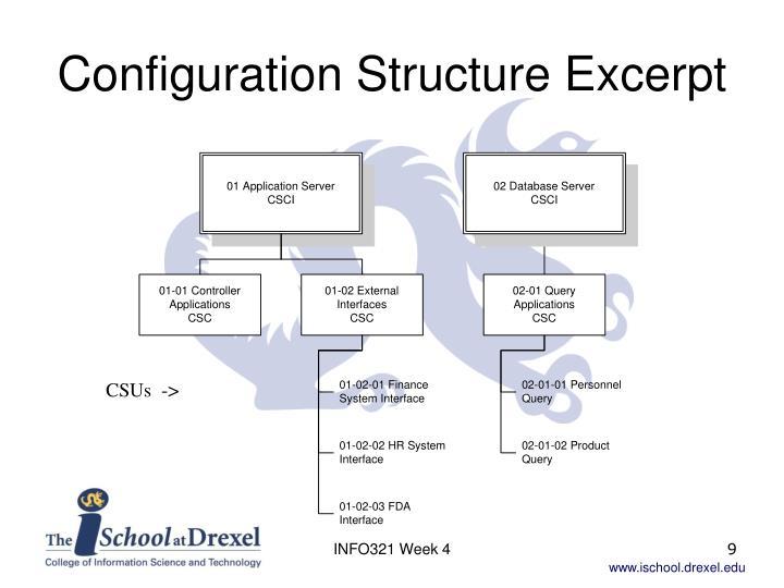 Configuration Structure Excerpt