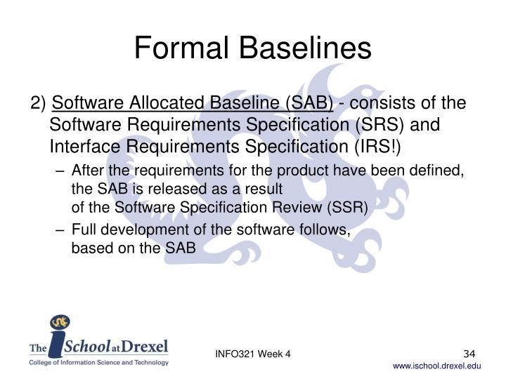 Formal Baselines
