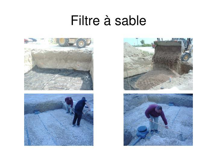 Filtre à sable