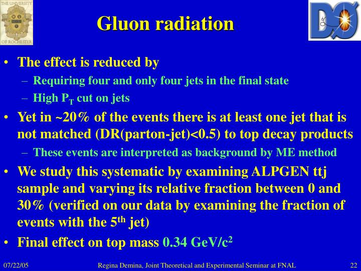 Gluon radiation