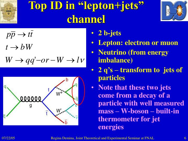 "Top ID in ""lepton+jets"" channel"