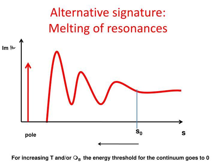 Alternative signature: