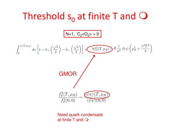 Threshold s