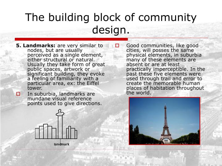 5. Landmarks: