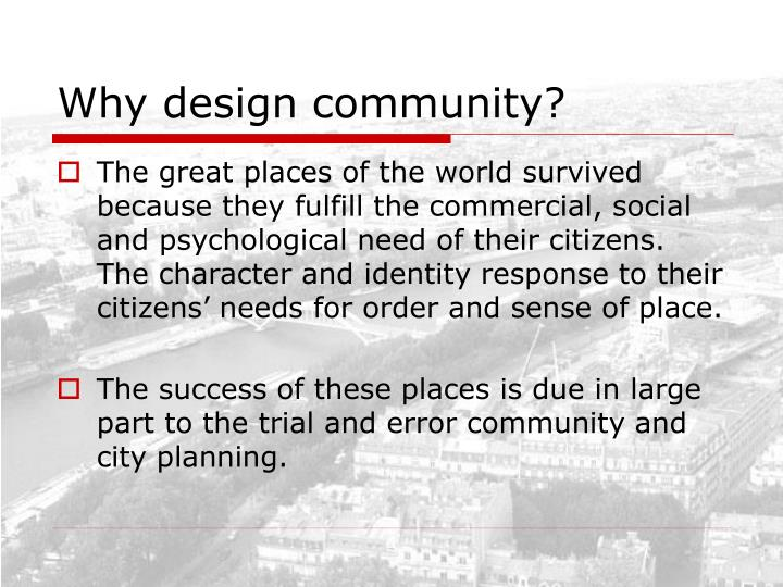 Why design community?