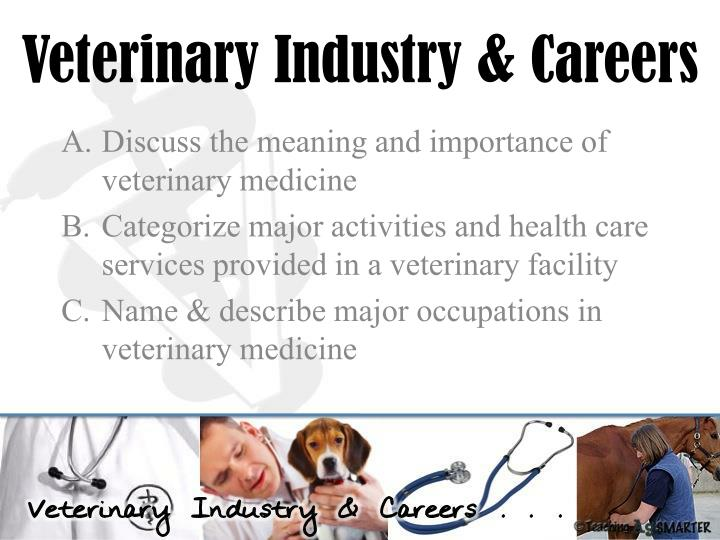 Veterinary Industry & Careers
