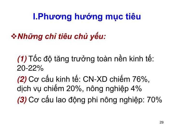 I.Phng hng mc tiu