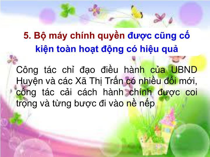 5. B my chnh quyn