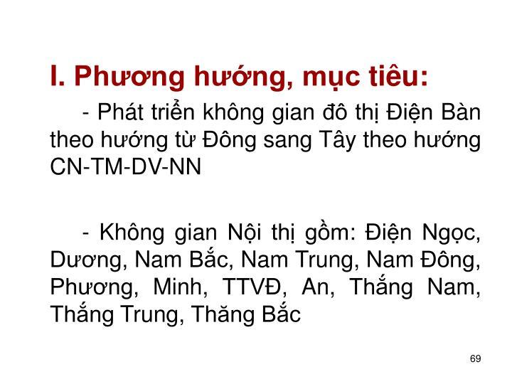I. Phng hng, mc tiu: