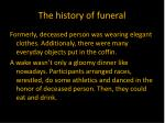 the history of funeral