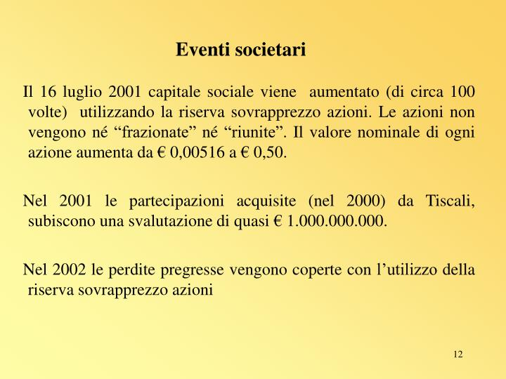 Eventi societari