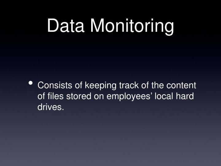 Data Monitoring