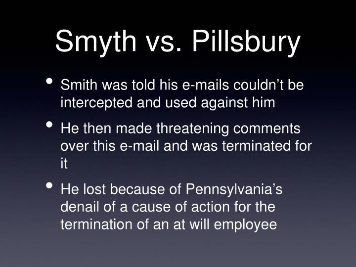 Smyth vs. Pillsbury