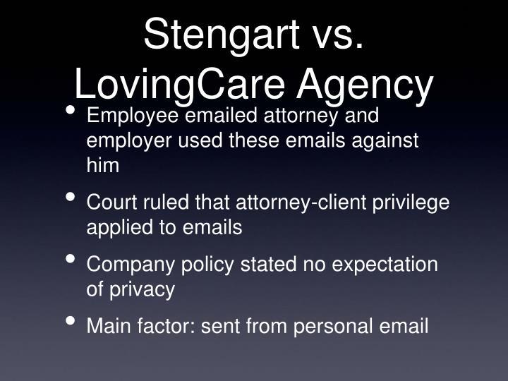 Stengart vs. LovingCare Agency