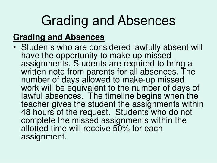 Grading and Absences