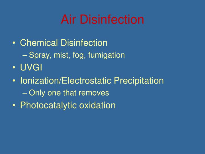 Air Disinfection