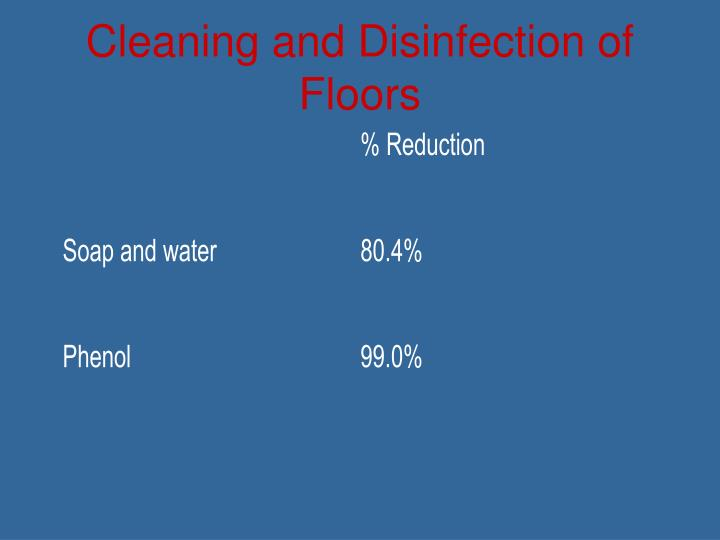Cleaning and Disinfection of Floors
