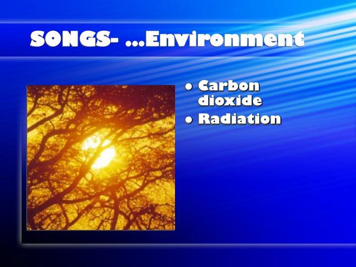 SONGS- …Environment