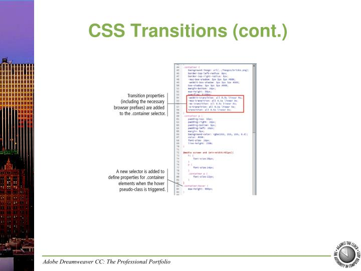 CSS Transitions (cont.)