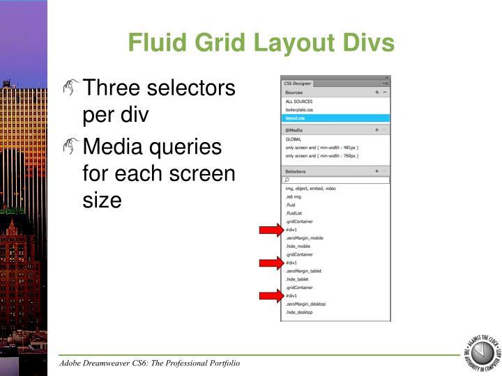 Fluid Grid Layout Divs