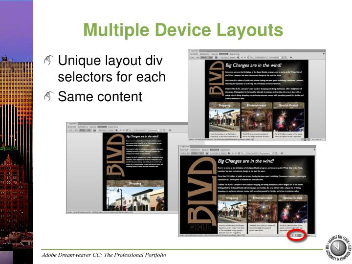 Multiple Device Layouts
