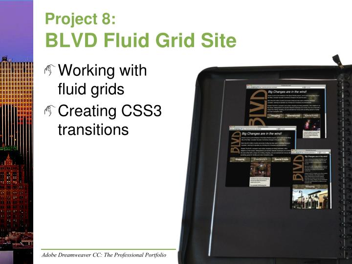 Project 8 blvd fluid grid site