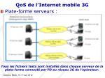 qos de l internet mobile 3g9