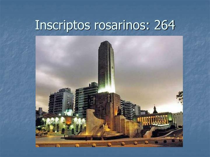 Inscriptos rosarinos: 264